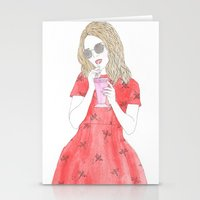 Milk-shake Time Stationery Cards