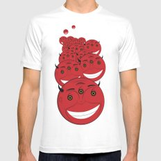 smile White SMALL Mens Fitted Tee