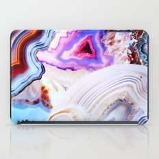 Agate, a vivid Metamorphic rock on Fire iPad Case