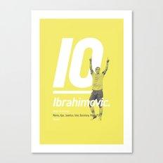 Ibrahimovic Sweden 10 Canvas Print