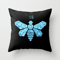 Chemical Blue Throw Pillow