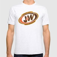 Jeeves and Wooster's Fine Beverages Mens Fitted Tee Ash Grey SMALL