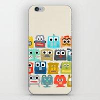 Summer Baby Robots iPhone & iPod Skin