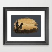 Loyal Companion Framed Art Print