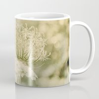 Cloudy with Sunshine and Queen Anne's Lace Wild Flowers in a Meadow Mug