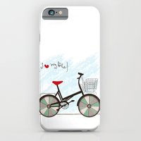 iPhone & iPod Case featuring I {❤} My Bike by lilycious