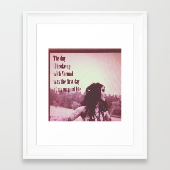 Break up with normal Framed Art Print