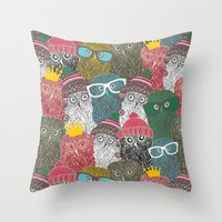 The Crowd. Throw Pillow