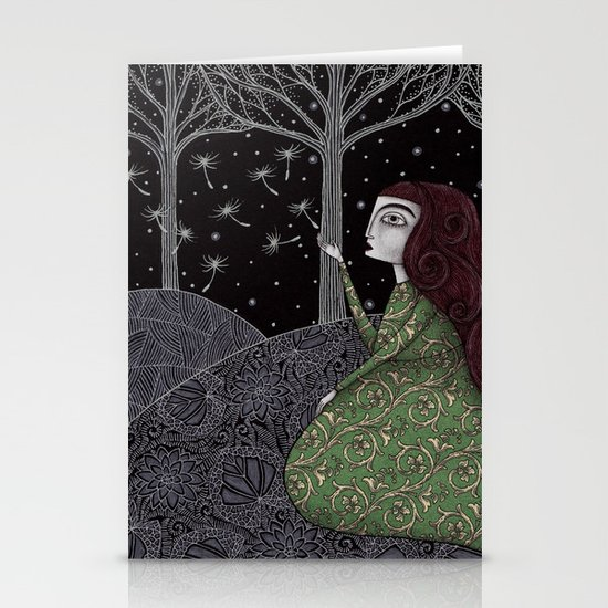 My Winter Stars Stationery Card