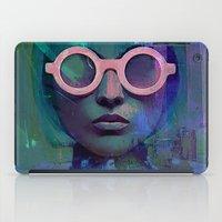 Pink Glasses girl iPad Case