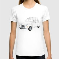 Citroën 2CV Womens Fitted Tee White SMALL