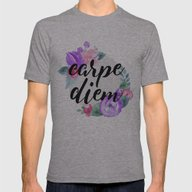 Carpe Diem Mens Fitted Tee Athletic Grey SMALL