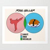 Venn Diagram for Ross Geller Art Print