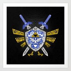 Heroes Legend - Zelda Art Print