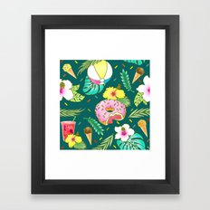 TROPICAL PARTY - Night Framed Art Print