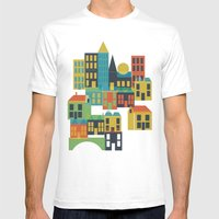 Toy Town Mens Fitted Tee White SMALL