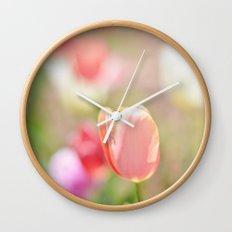 Tulips in the Garden Wall Clock