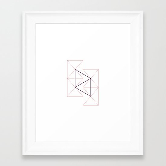 #272 Unexpected relations – Geometry Daily Framed Art Print