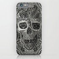 iPhone & iPod Case featuring Lace Skull by Ali GULEC