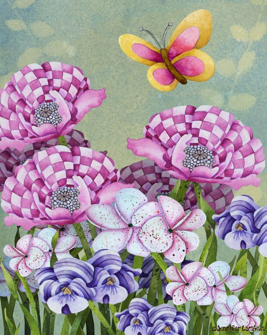 Fanciful Garden Art Print