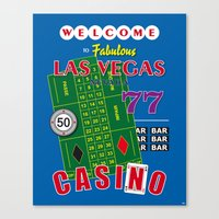 Las Vegas Poker Casino Art Print Decoration Canvas Print