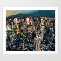 NYC Never Sleeps Art Print