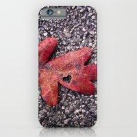 RED LEAF HEART iPhone 6 Slim Case