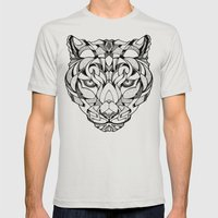 Leopard - Drawing Mens Fitted Tee Silver SMALL