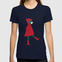 There Is No Wolf Womens Fitted Tee Navy SMALL