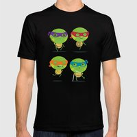 Turtles Mens Fitted Tee Black SMALL