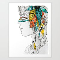 Native Woman Art Print