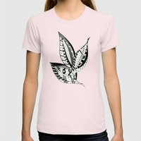Leaves of Three Womens Fitted Tee Light Pink SMALL