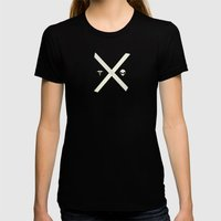 Mulder and Scully Womens Fitted Tee Black SMALL