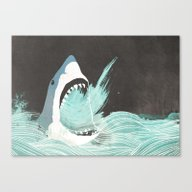 Canvas Print featuring Great White by Chase Kunz