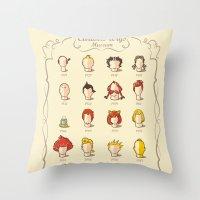 The Marvelous Cartoon Wi… Throw Pillow