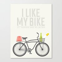 I Like My Bike Canvas Print