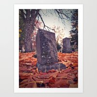 Art Print featuring Cemetery scene by Vorona Photography
