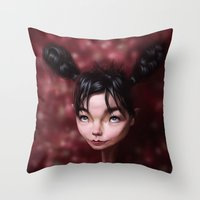 Caricature for a Bjork Throw Pillow