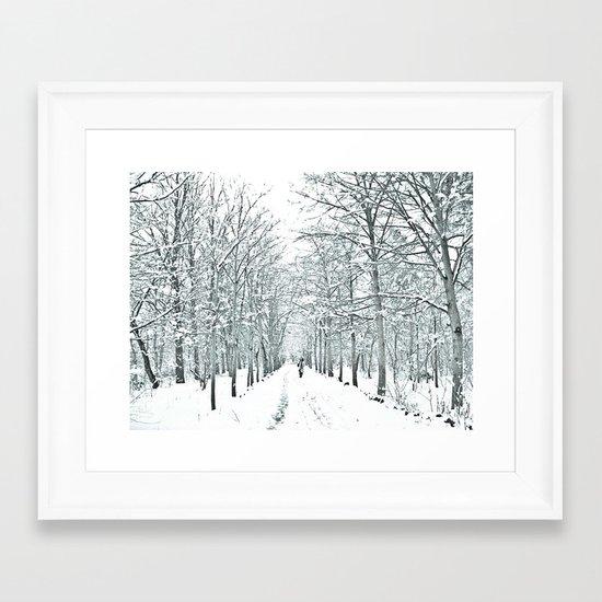 winter symphony Framed Art Print