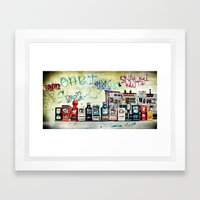The Posts Framed Art Print