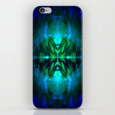 Blue columns in Abstract iPhone & iPod Skin