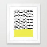 Polka dot rain dip Framed Art Print