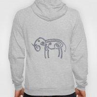 Patterned Elephant Hoody