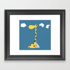 The greedy giraffe Framed Art Print