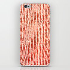 Stockinette Orange iPhone & iPod Skin