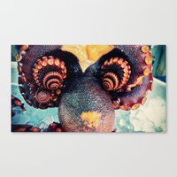 Octopus flower Canvas Print