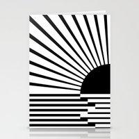 Black rays Stationery Cards