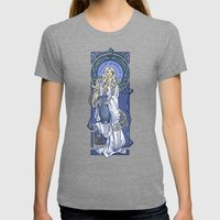 Galadriel Nouveau Womens Fitted Tee Tri-Grey SMALL