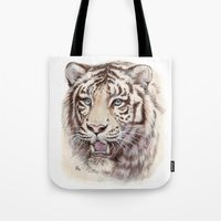 White Tiger 909 Tote Bag