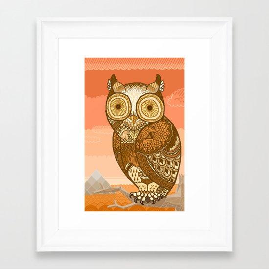 Owlie in Autumn Framed Art Print